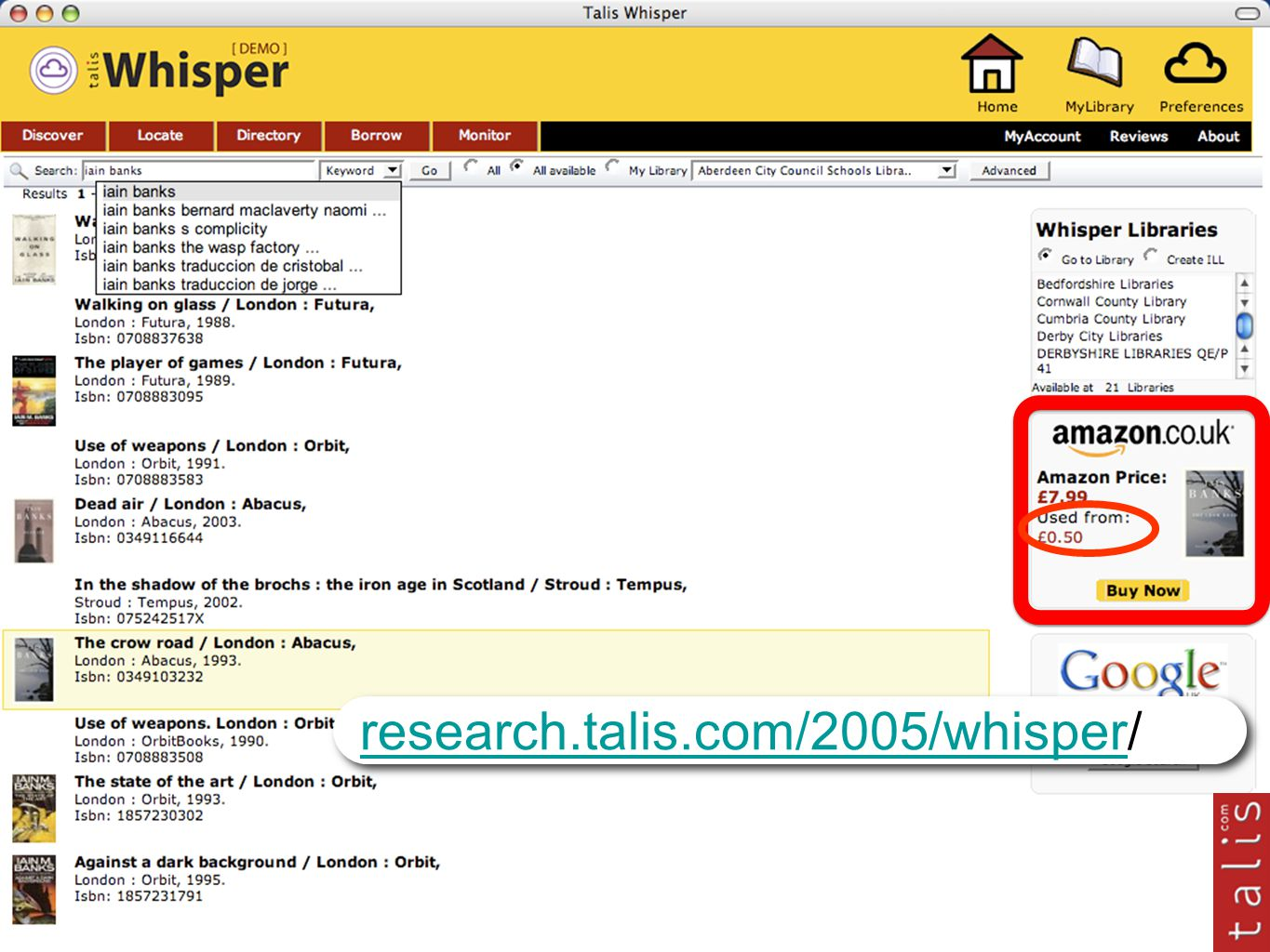 research.talis.com/2005/whisperresearch.talis.com/2005/whisper/