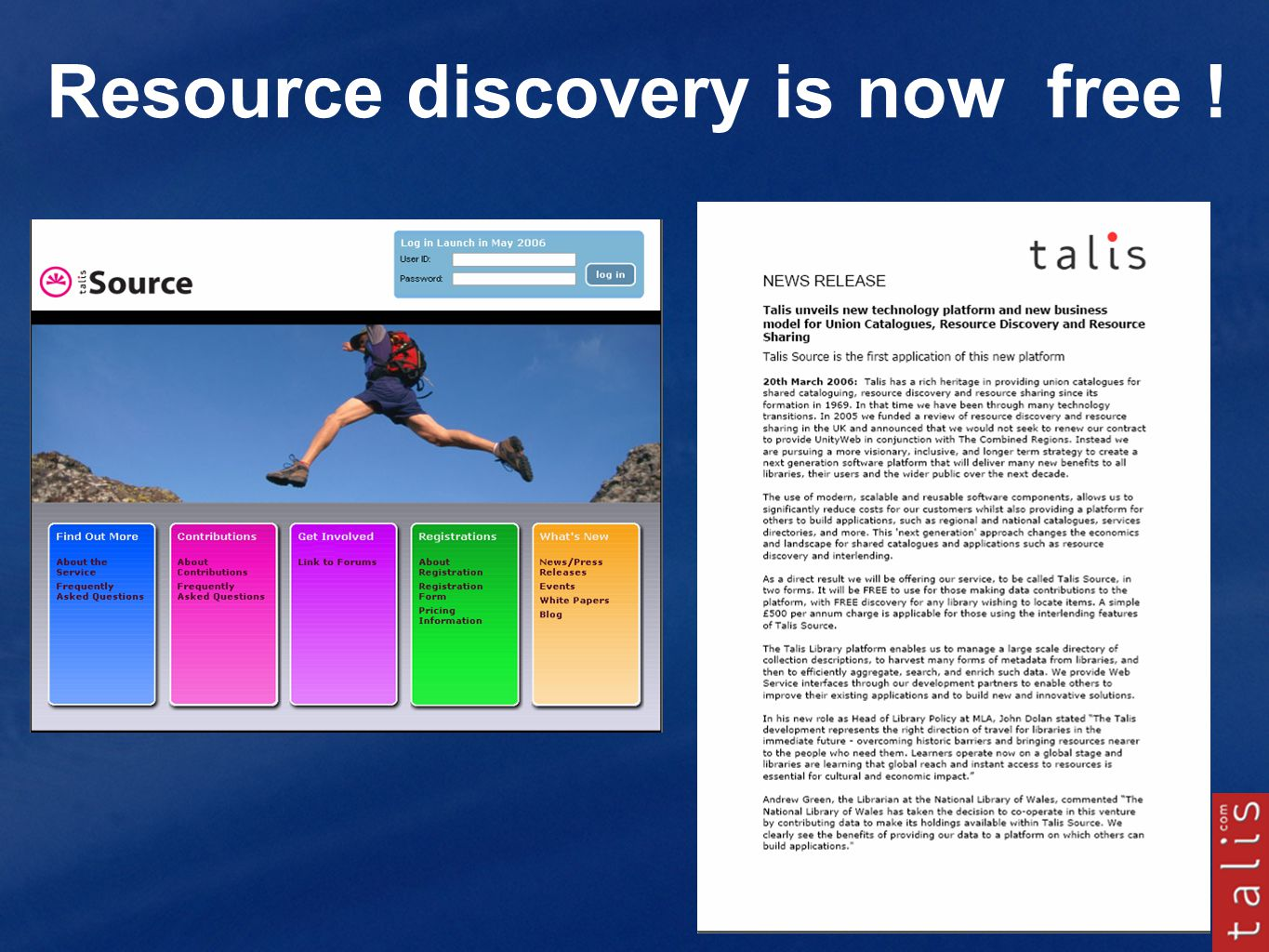 Resource discovery is now free !
