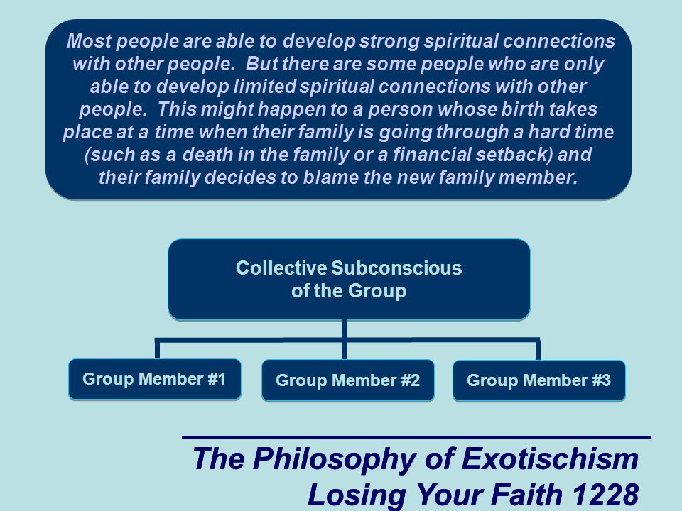 The Philosophy of Exotischism Losing Your Faith 1228 The Philosophy of Exotischism Losing Your Faith 1228 Most people are able to develop strong spiritual connections with other people.