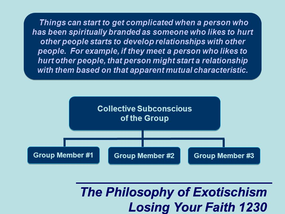 The Philosophy of Exotischism Losing Your Faith 1230 The Philosophy of Exotischism Losing Your Faith 1230 Things can start to get complicated when a person who has been spiritually branded as someone who likes to hurt other people starts to develop relationships with other people.