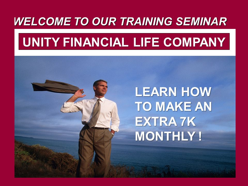 WELCOME TO OUR TRAINING SEMINAR LEARN HOW TO MAKE AN EXTRA 7K MONTHLY .