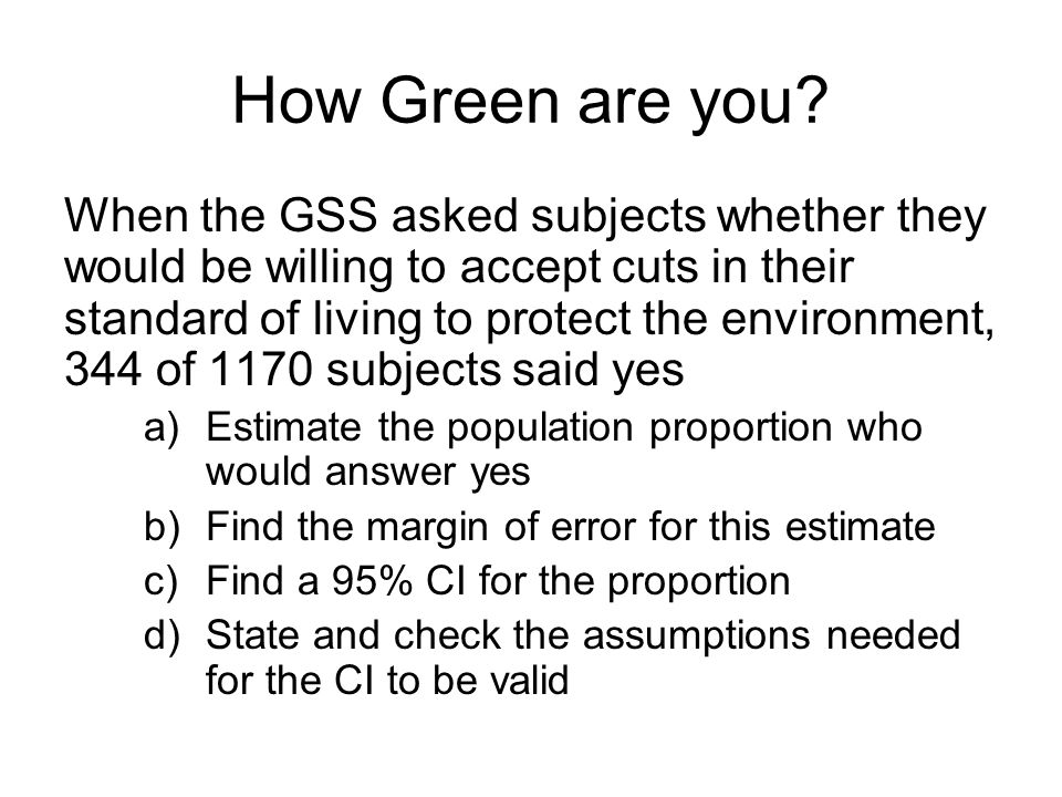 How Green are you.