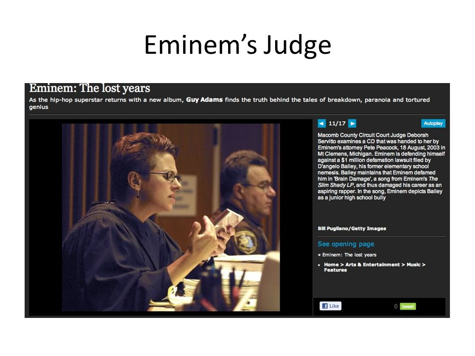 Eminem's Judge