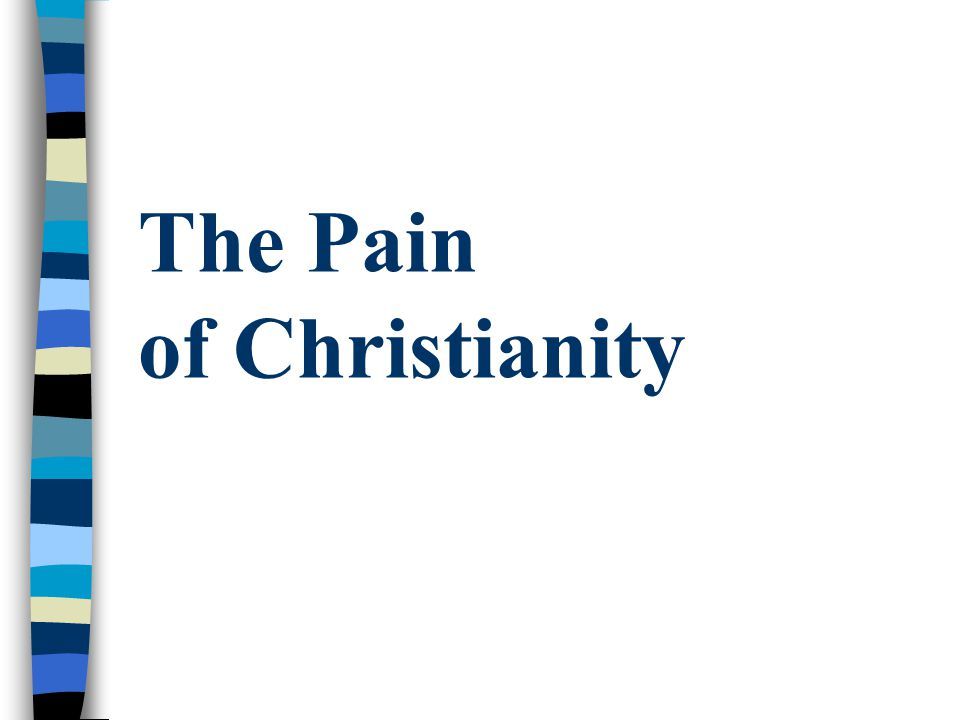 Is pain & suffering God's punishment for our sin.