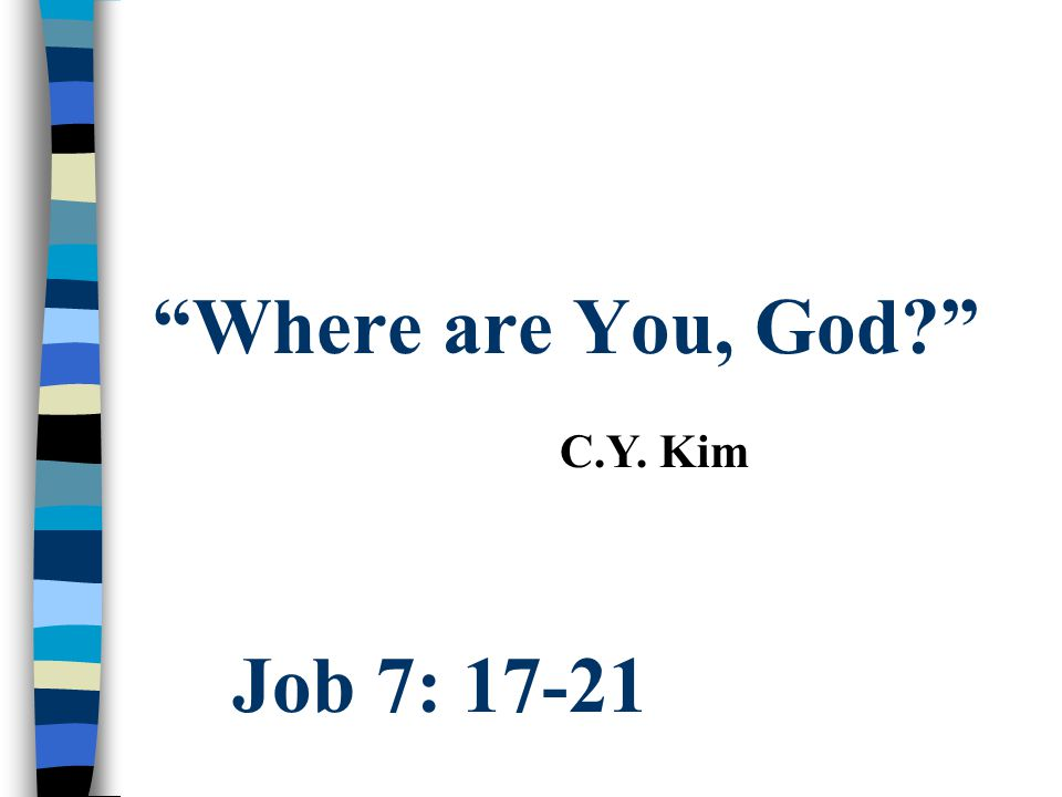 3 Questions that no one asks. (but we all do - Job started it) n Is God unfair.