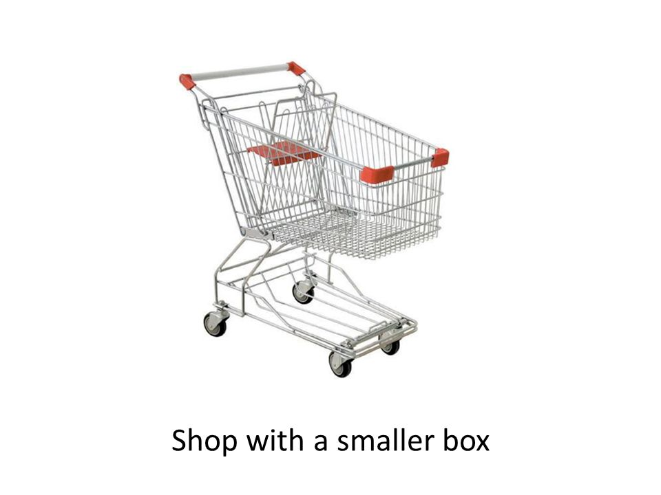 Shop with a smaller box