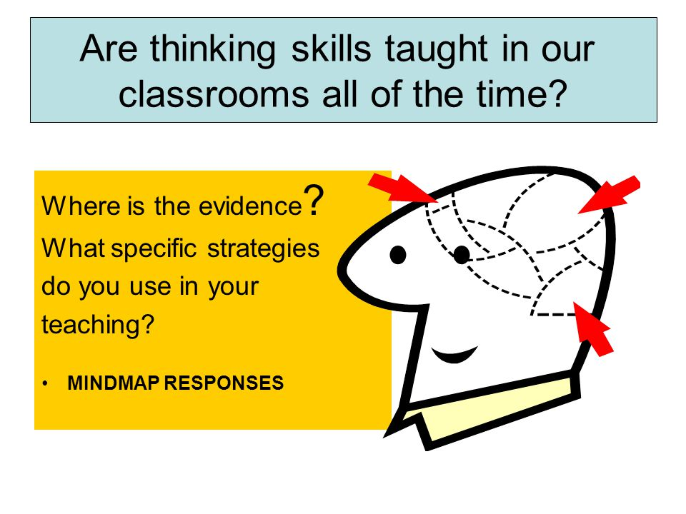 Where is the evidence . What specific strategies do you use in your teaching.