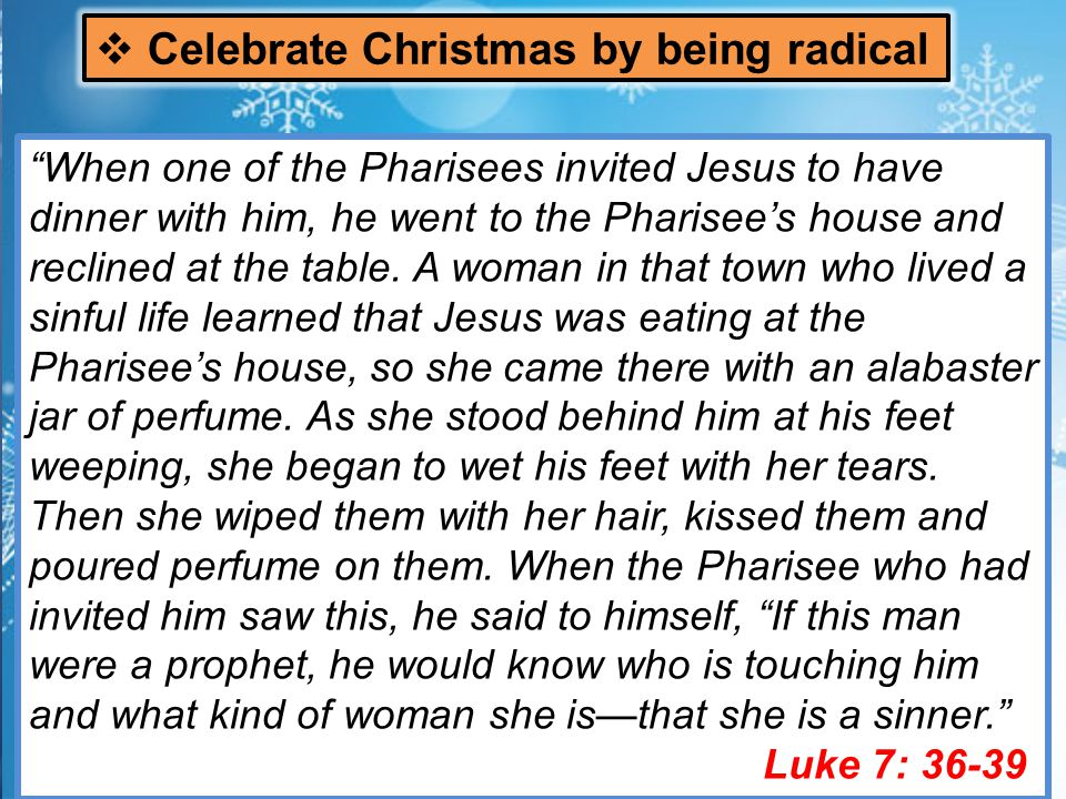 On a Sabbath Jesus was teaching in one of the synagogues, and a woman was there who had been crippled by a spirit for eighteen years.