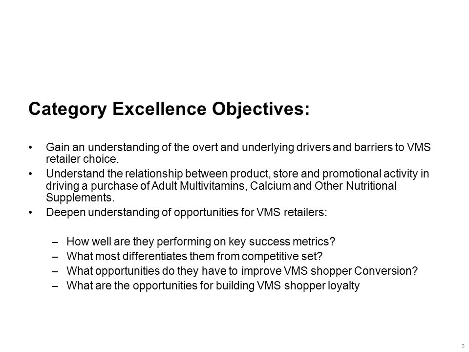 Key Findings Implications Opportunity Price/promotion To be chosen for VMS, a retailer must do at least these four things well...