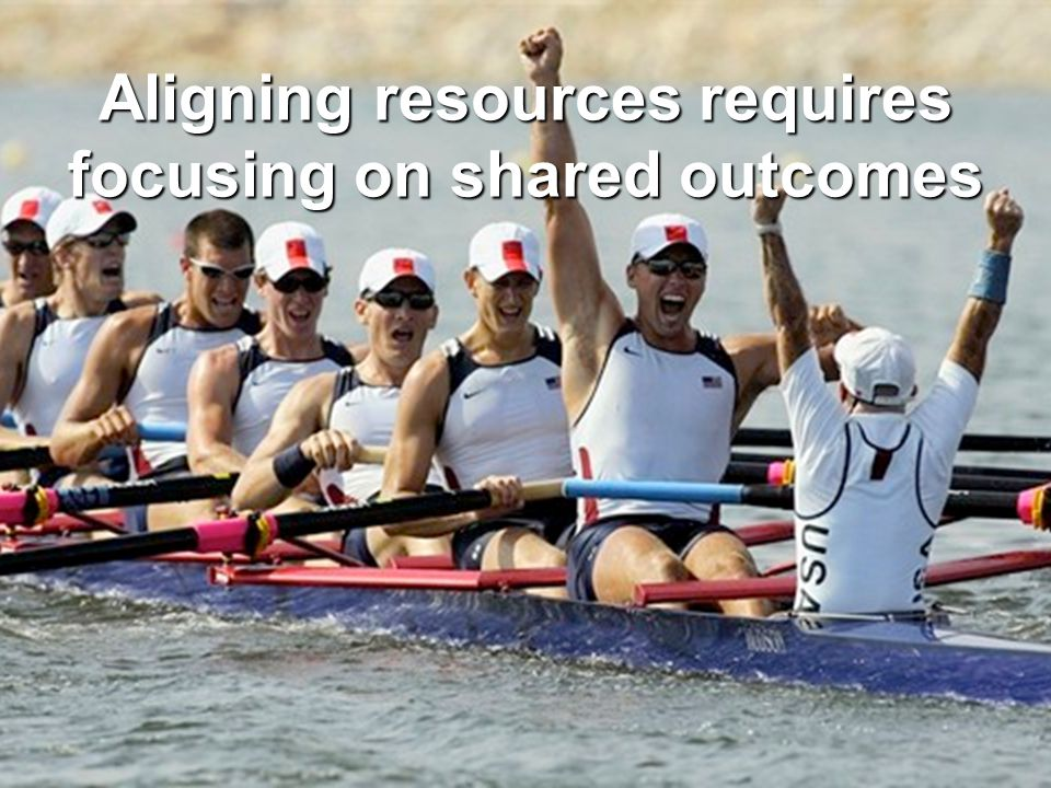 Aligning resources requires focusing on shared outcomes