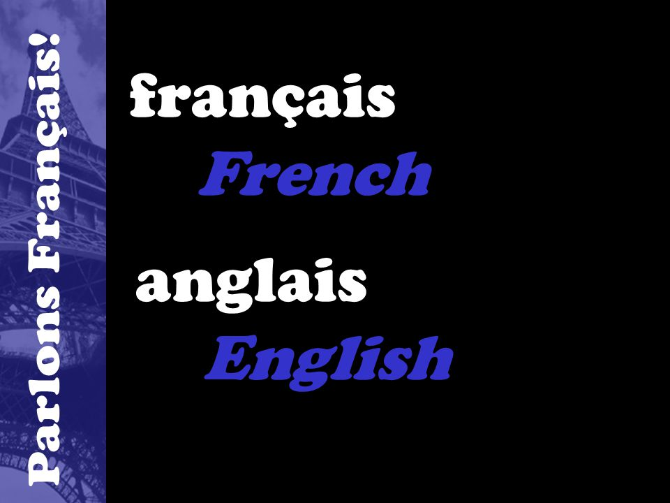 français French anglais English