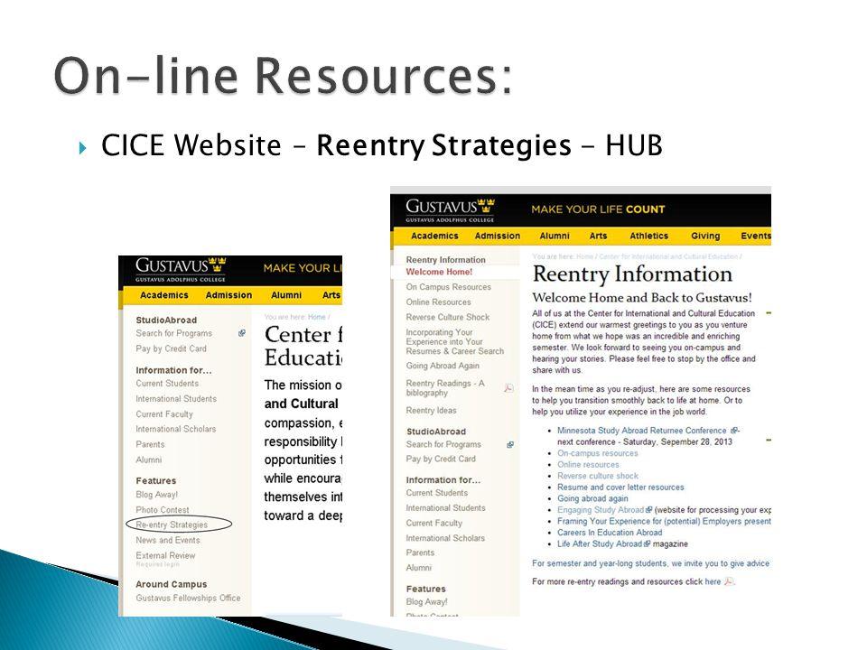  CICE Website – Reentry Strategies - HUB
