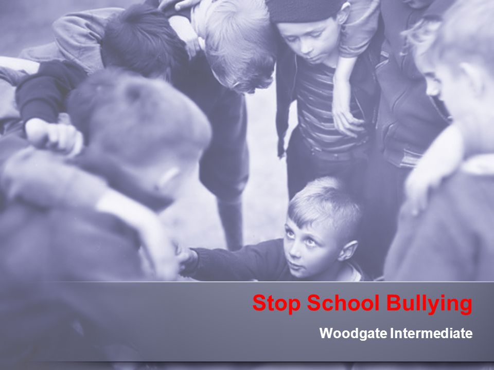 Stop School Bullying Woodgate Intermediate