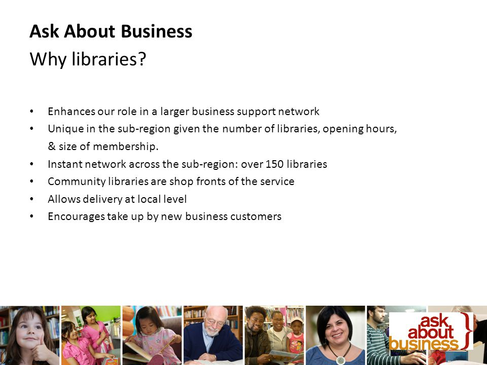 Ask About Business Why libraries.