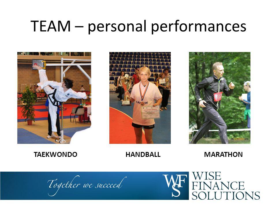 TEAM – personal performances TAEKWONDOHANDBALLMARATHON