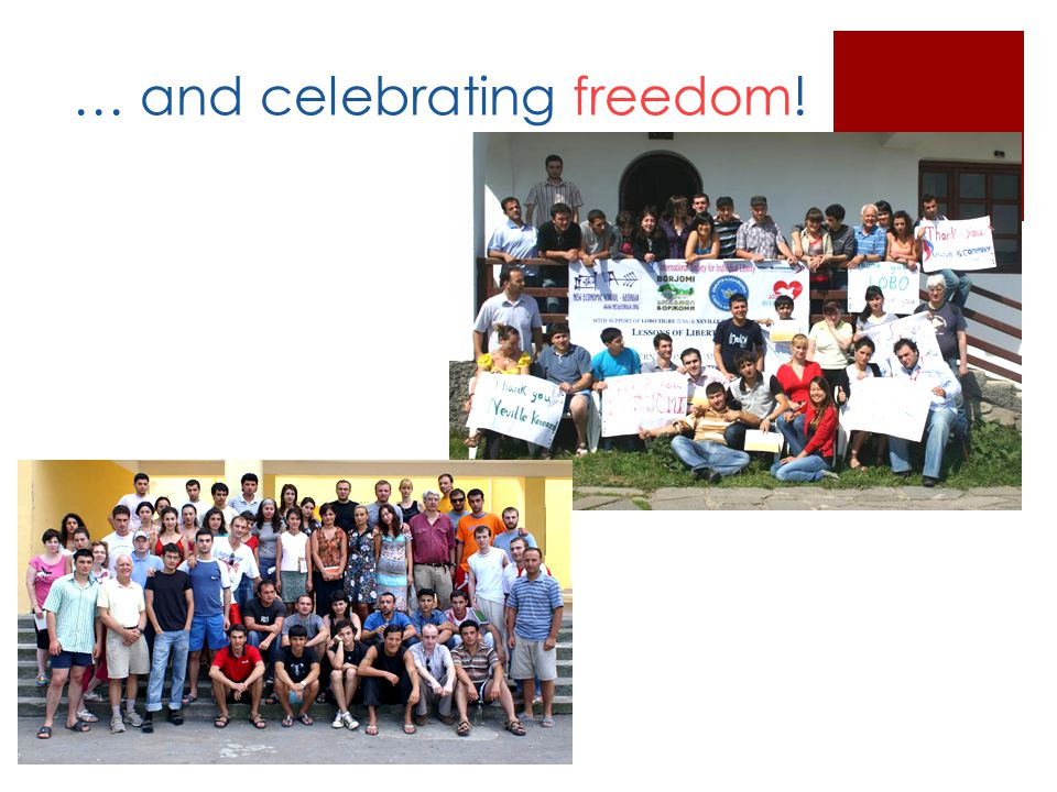 … and celebrating freedom!