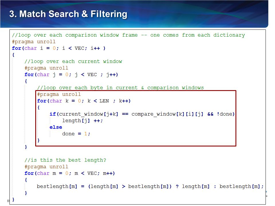 3. Match Search & Filtering 69