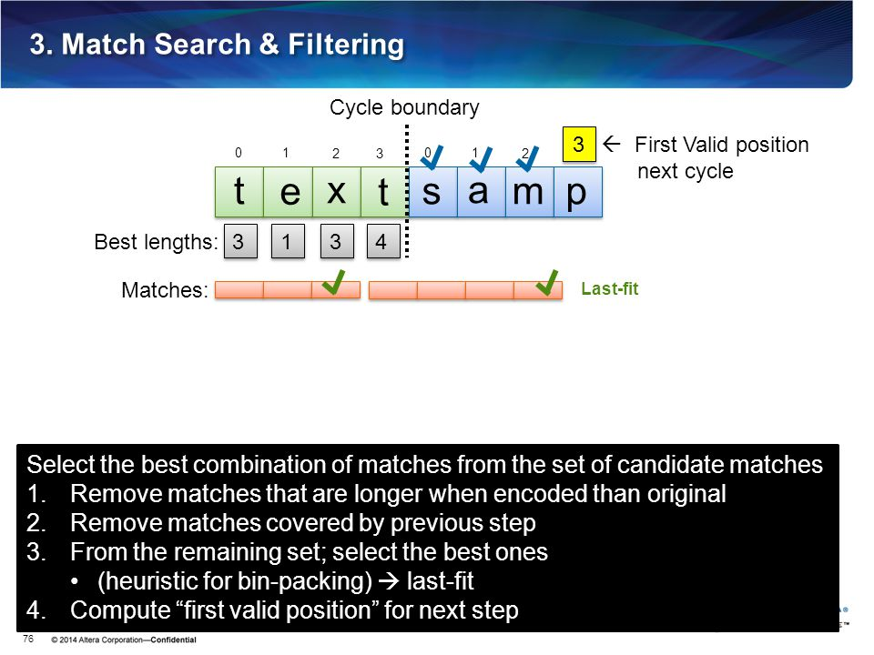 3. Match Search & Filtering 76 3 3 t e x t s a mp Cycle boundary 1 1 3 3 4 4 Matches: 0 1 23 Select the best combination of matches from the set of ca
