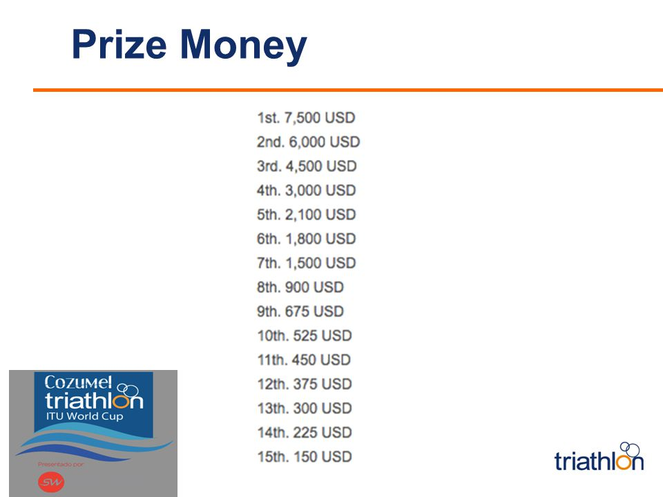 Prize Money <Insert Event
