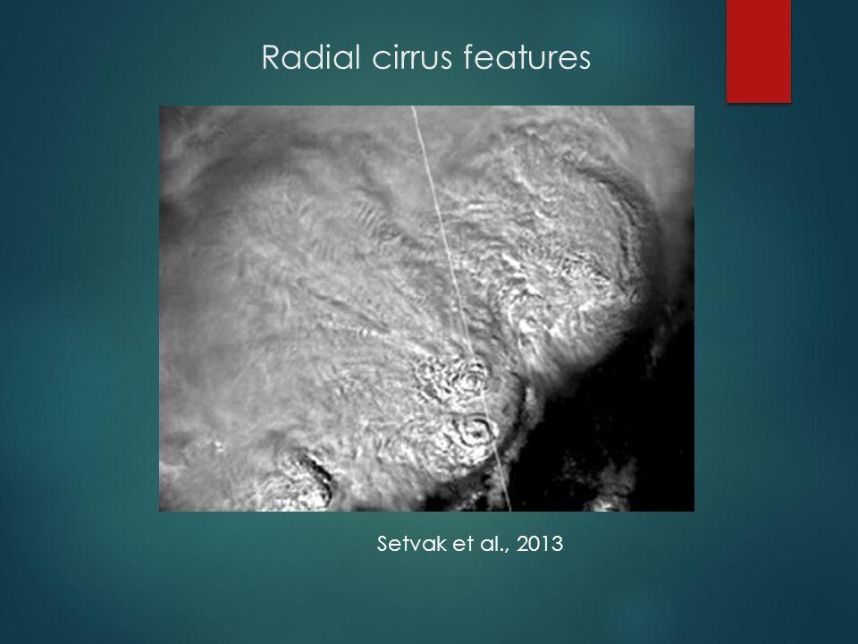 Radial cirrus features Setvak et al., 2013