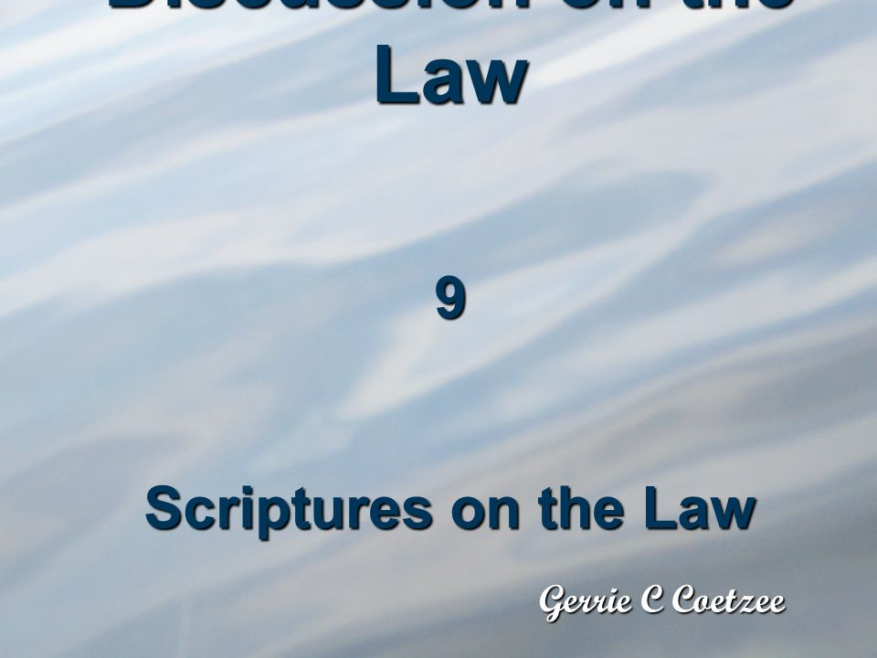 During the series we quoted many verses which are normally a problem in connection with the Law and I believe we answered them.