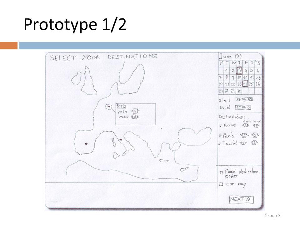 Group 3 Prototype 1/2