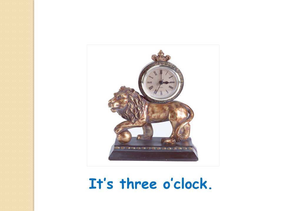 It's half past six.