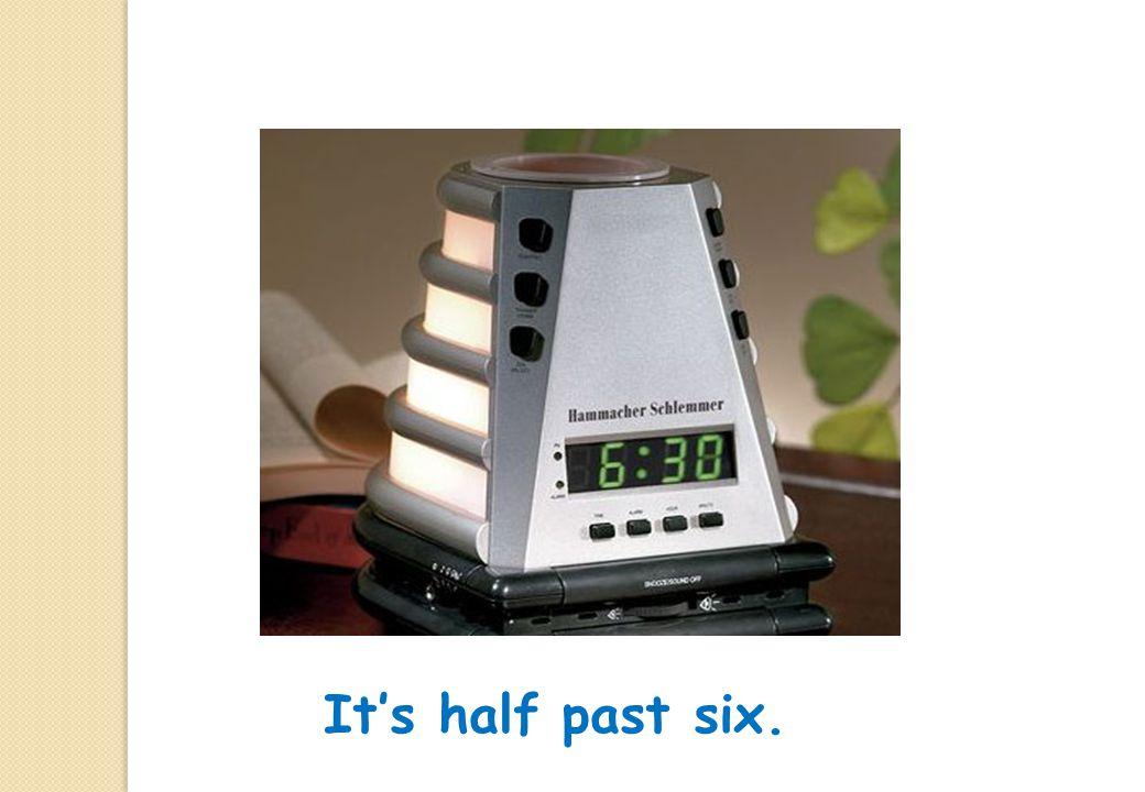 It's half past twelve.