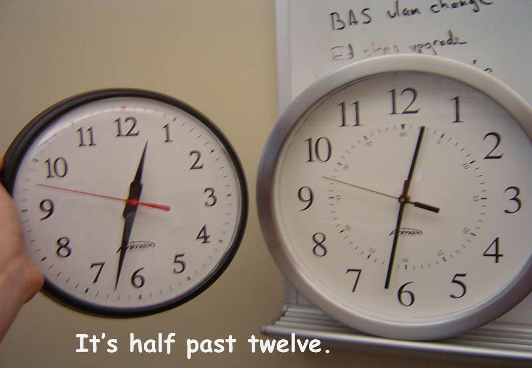 It's quarter past seven.