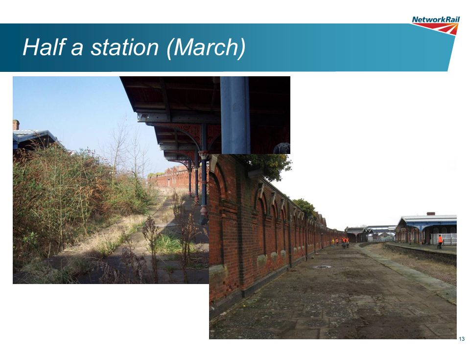 13 Half a station (March)