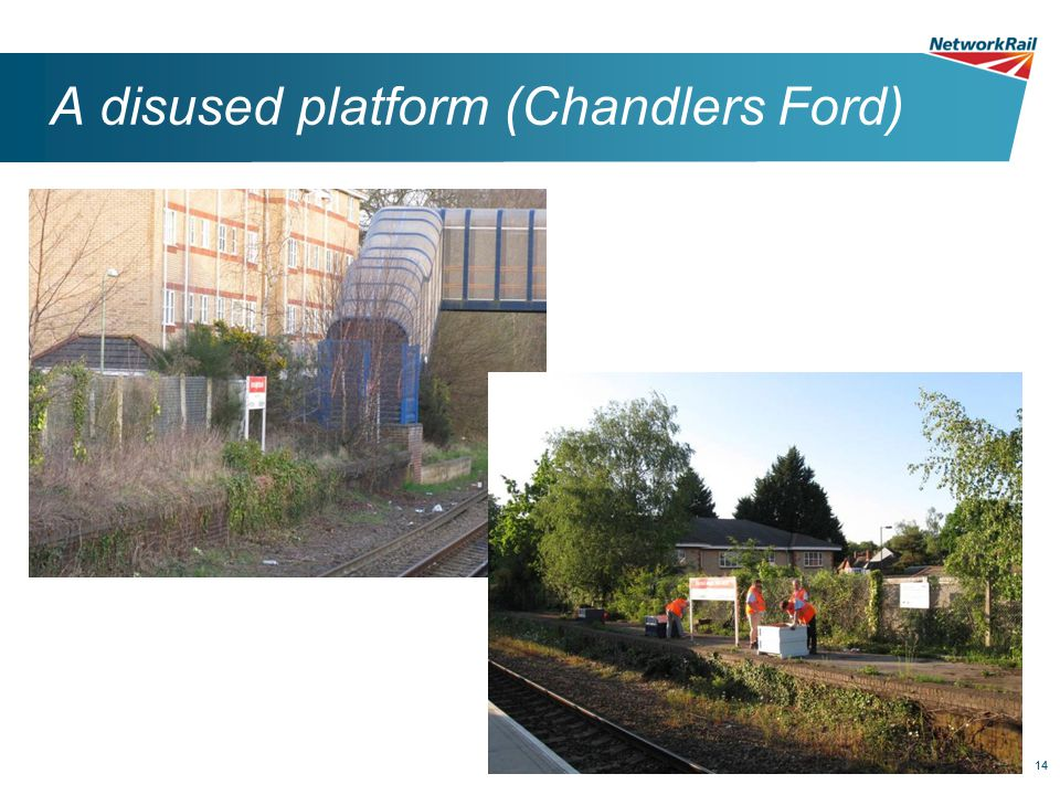 14 A disused platform (Chandlers Ford)