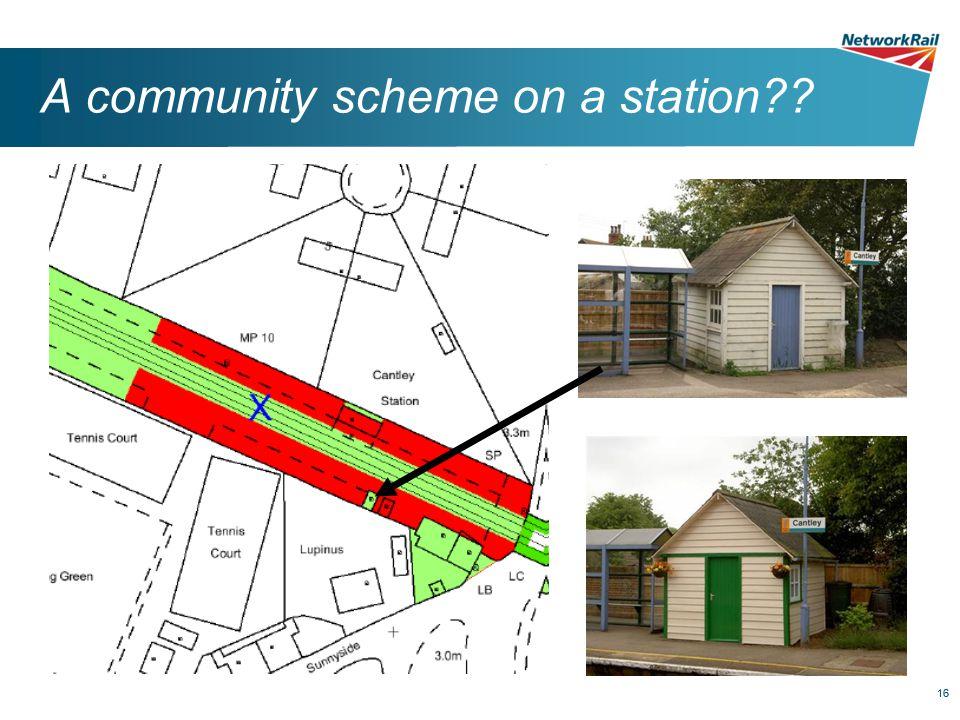 16 A community scheme on a station??