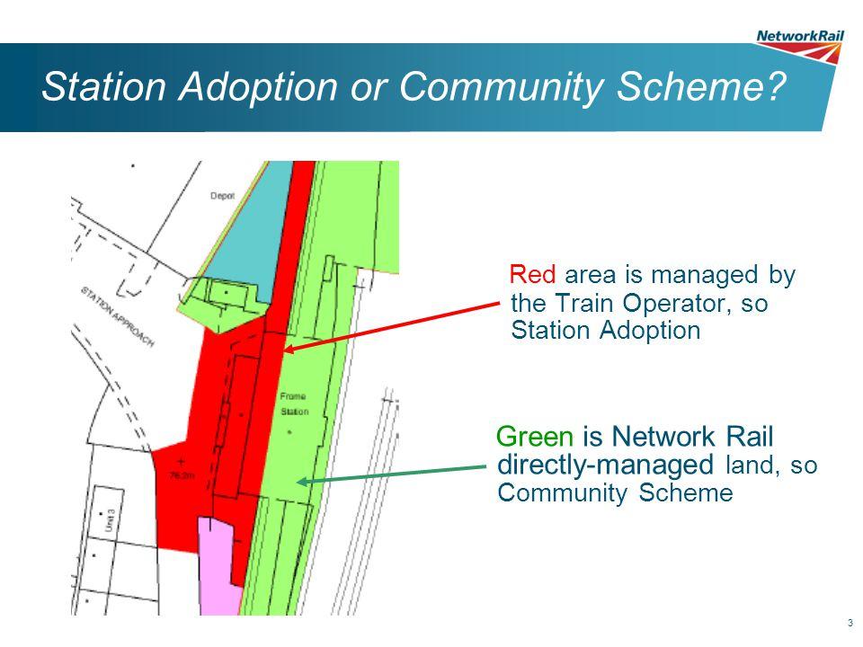 3 Station Adoption or Community Scheme.
