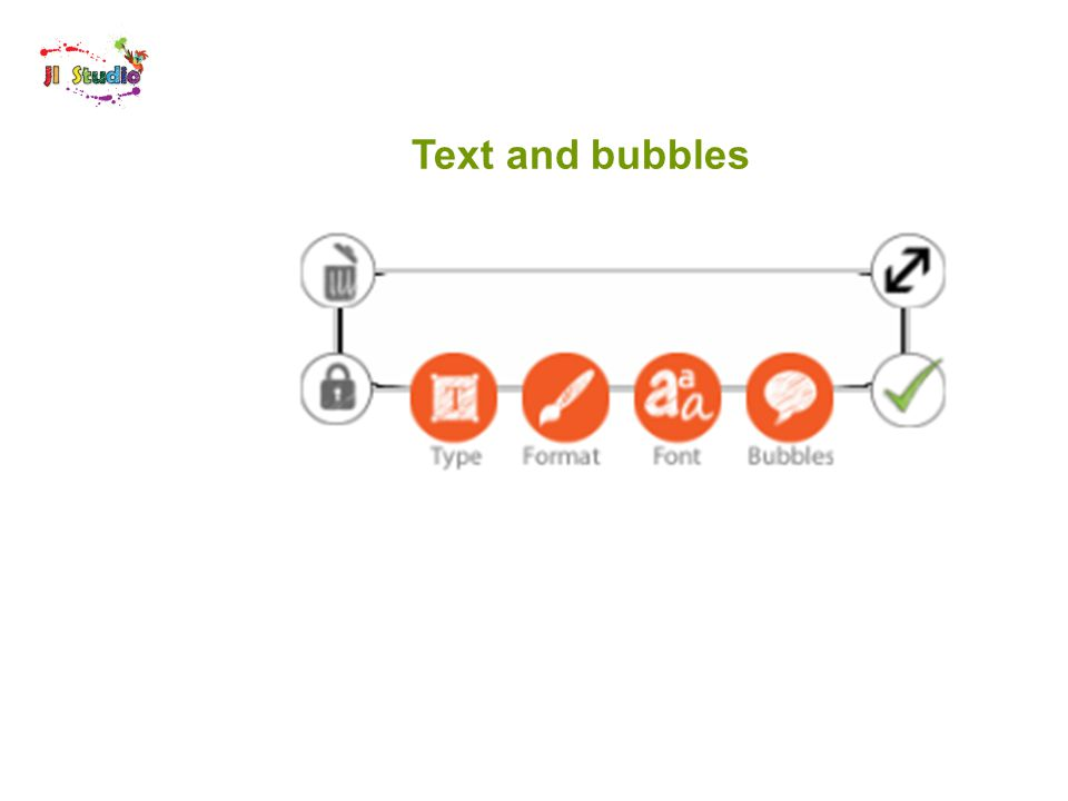 Text and bubbles