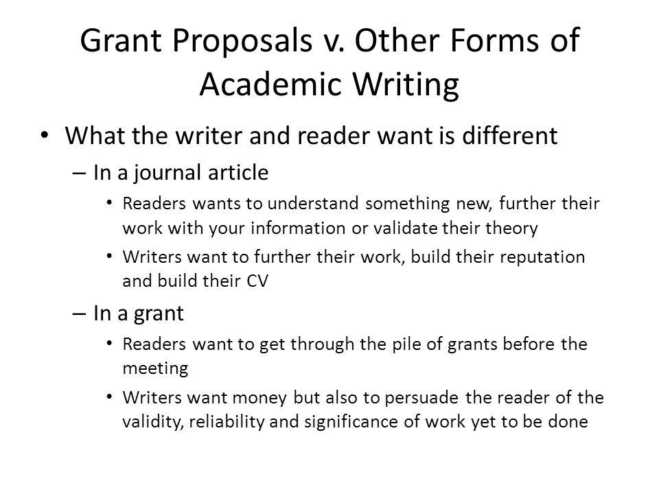 Grant Proposals v.
