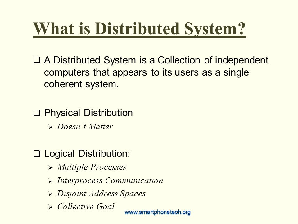 What is Distributed System.