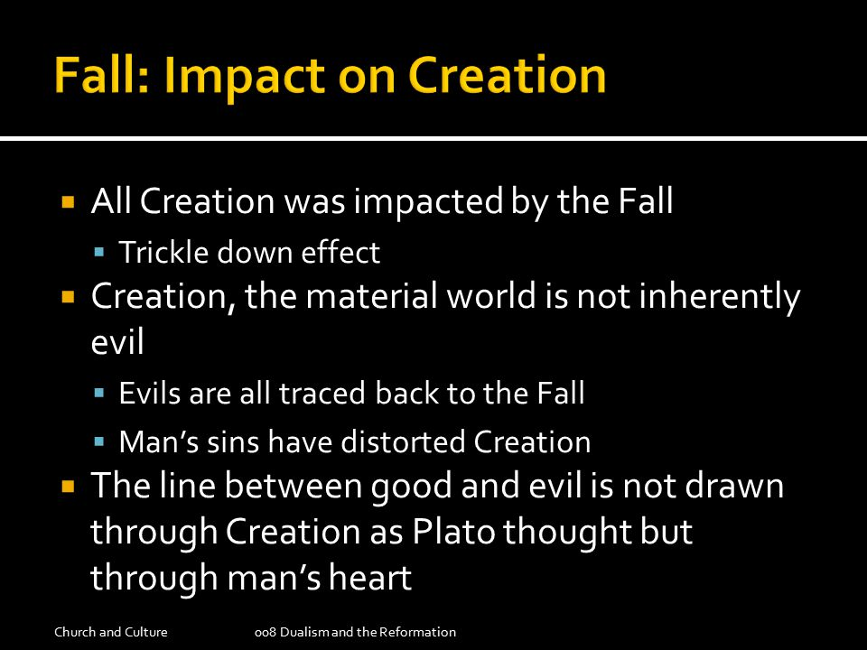  Structure is understood as the created character of the world – which is good, even after the fall  Direction is understood to be the way we direct those structures  Either to serve God or idols  In every situation we need to ask the questions:  What is the original structure that God created.