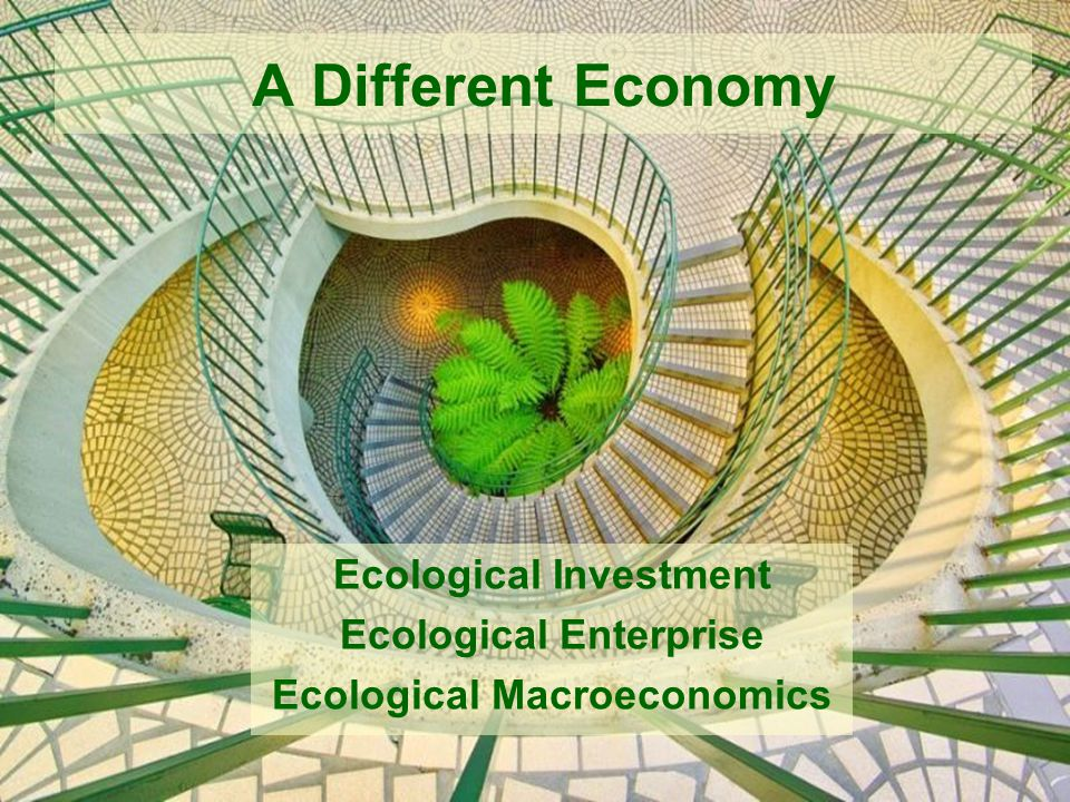 A Different Economy Ecological Investment Ecological Enterprise Ecological Macroeconomics