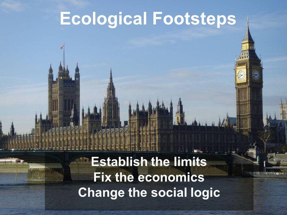 Ecological Footsteps Establish the limits Fix the economics Change the social logic