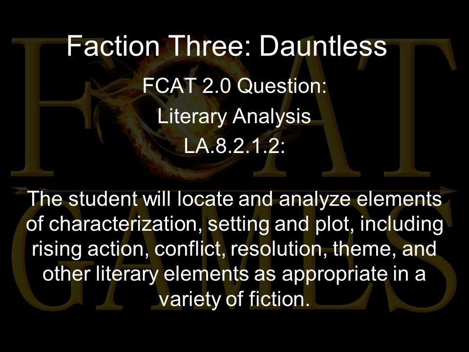Faction Three: Dauntless Which phrase best describes the main character's conflict in this passage.