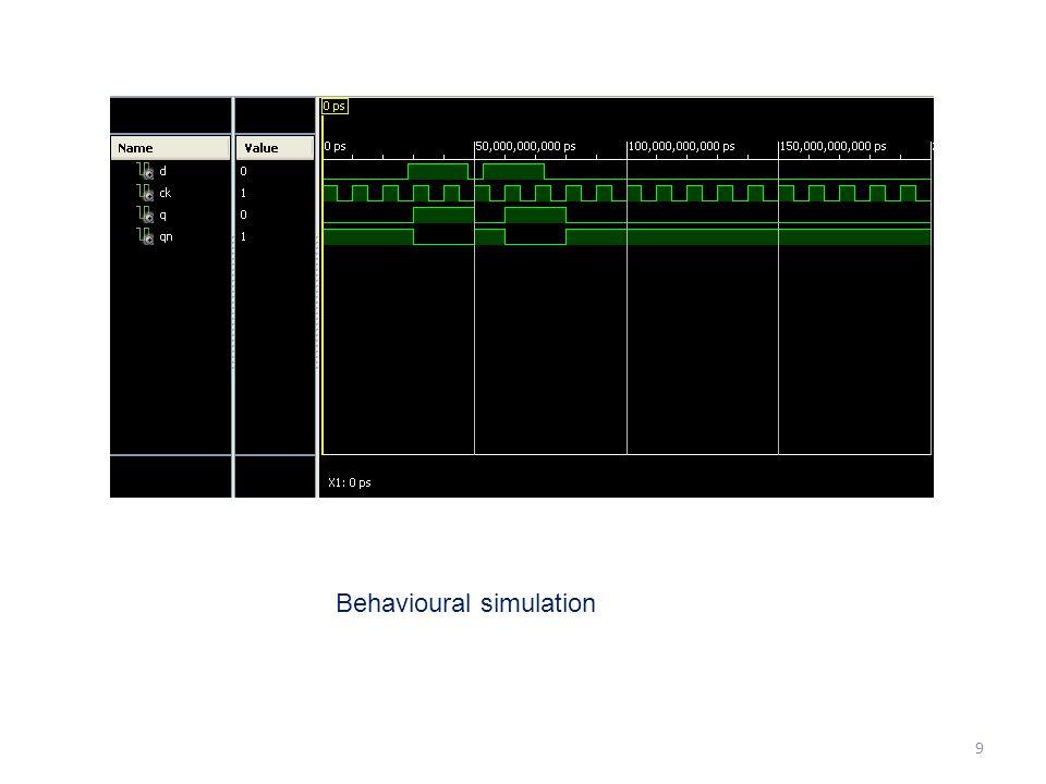 Behavioural simulation 9