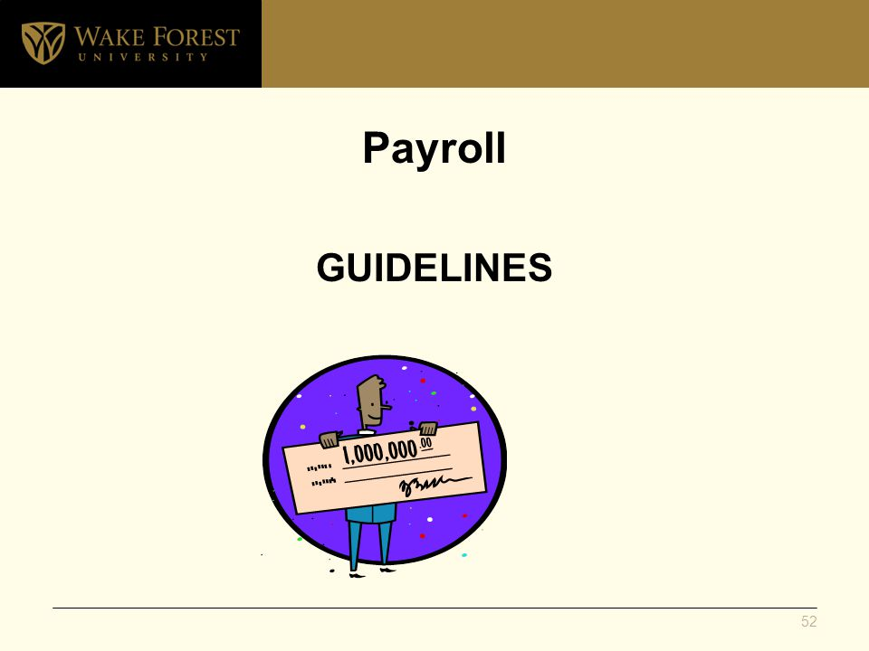 Payroll GUIDELINES 52