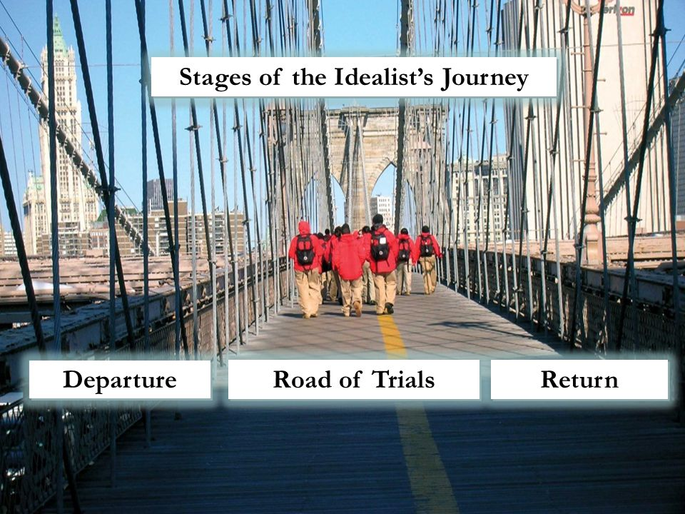 Departure Road of Trials Return Return Stages of the Idealist's Journey