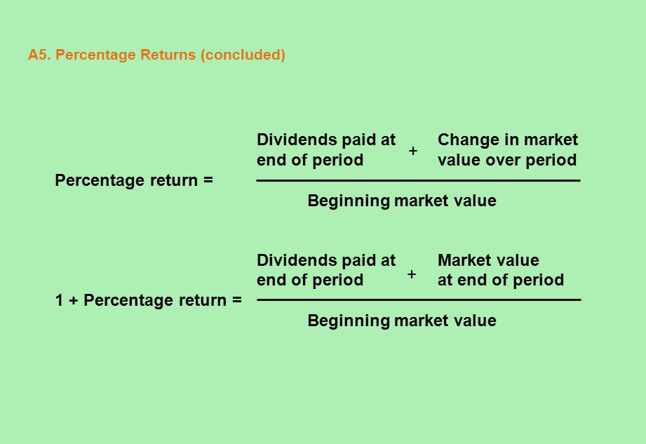 A26.Chapter 12 Quick Quiz (continued) 1. How are average annual returns measured.