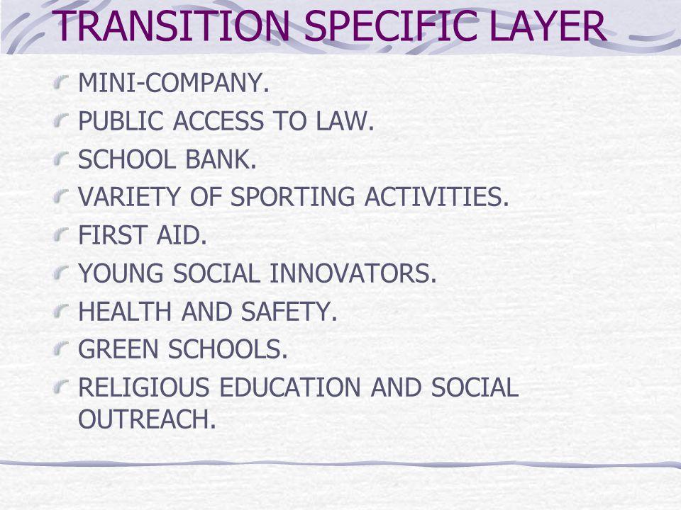 TRANSITION SPECIFIC LAYER MINI-COMPANY. PUBLIC ACCESS TO LAW.