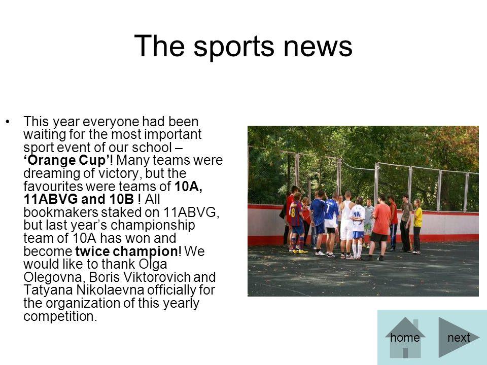 The sports news(2) Now – world football news.