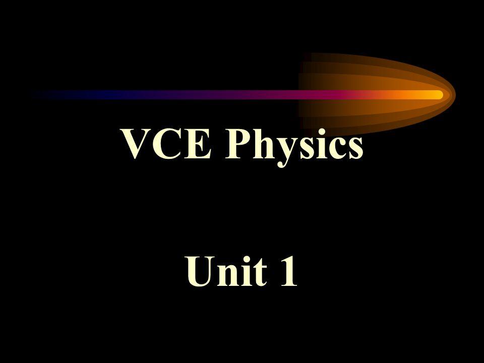 VCE Physics Unit 1