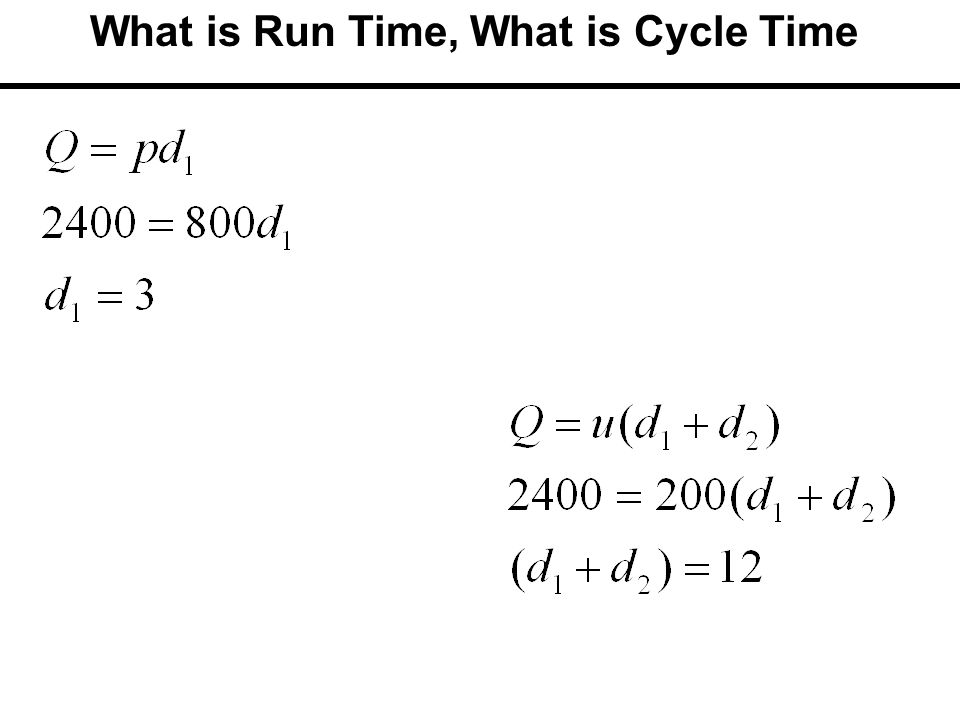 What is Run Time, What is Cycle Time