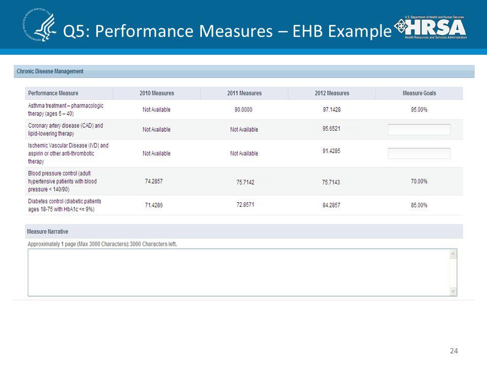 Q5: Performance Measures – EHB Example 24