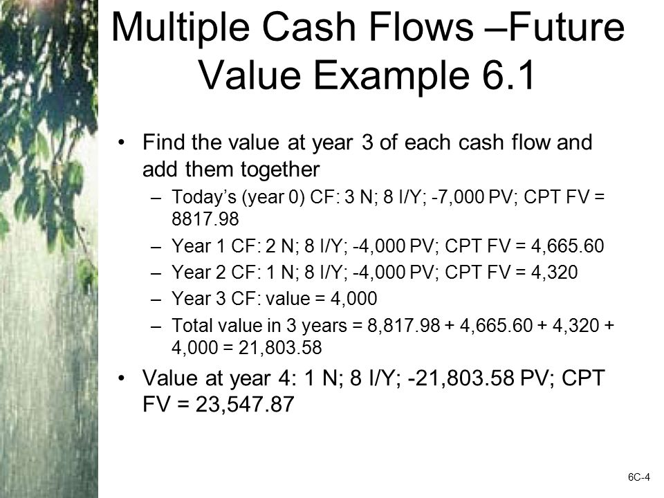 Future Values with Monthly Compounding Suppose you deposit $50 a month into an account that has an APR of 9%, based on monthly compounding.